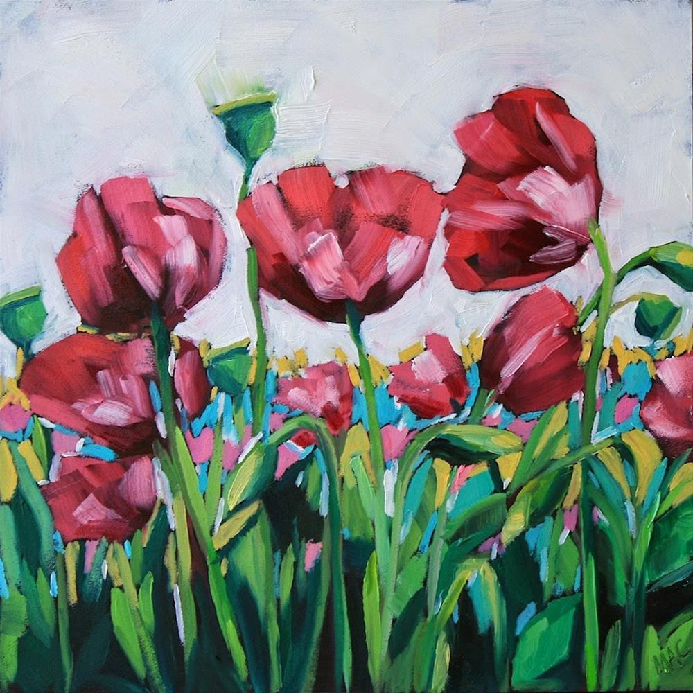 """Poppy Field"" original fine art by Mary Anne Cary"