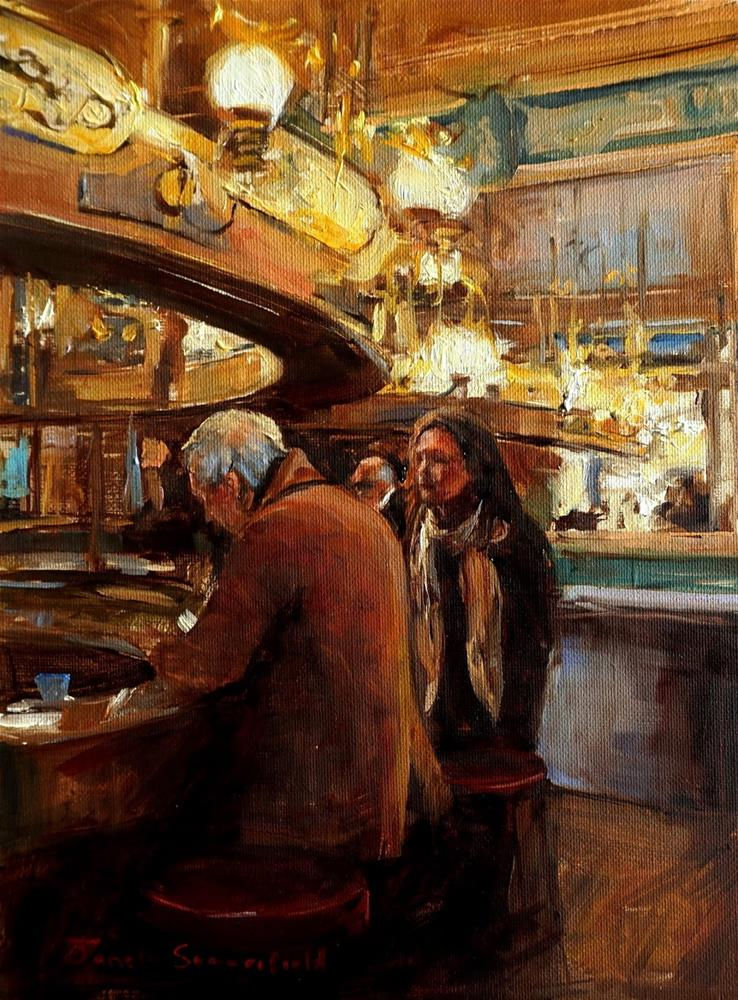 """The Espresso Bar"" original fine art by Jonelle Summerfield"