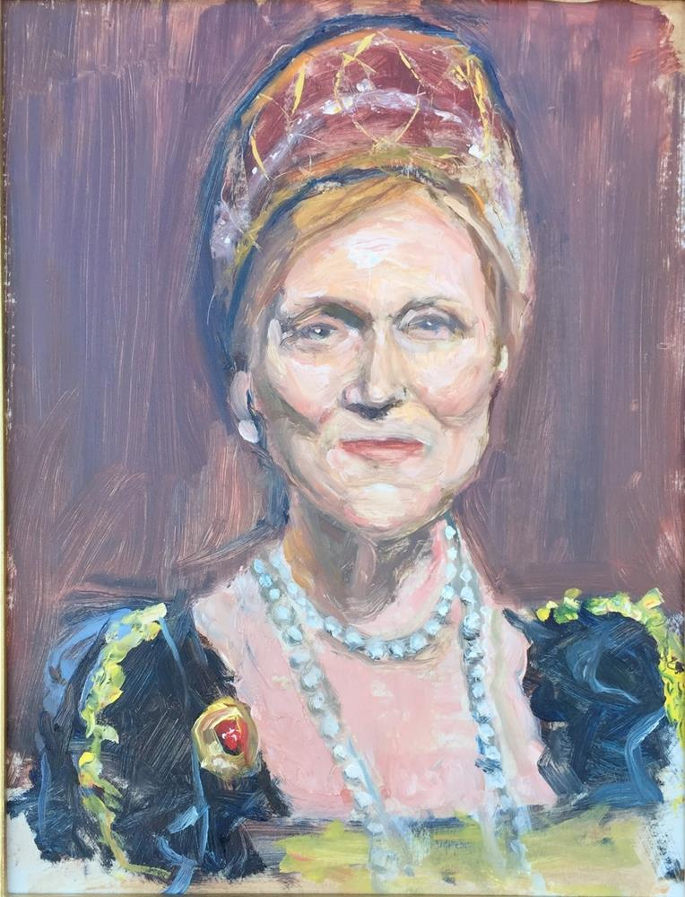 """Queen's Portrait"" original fine art by Rick Blankenship"