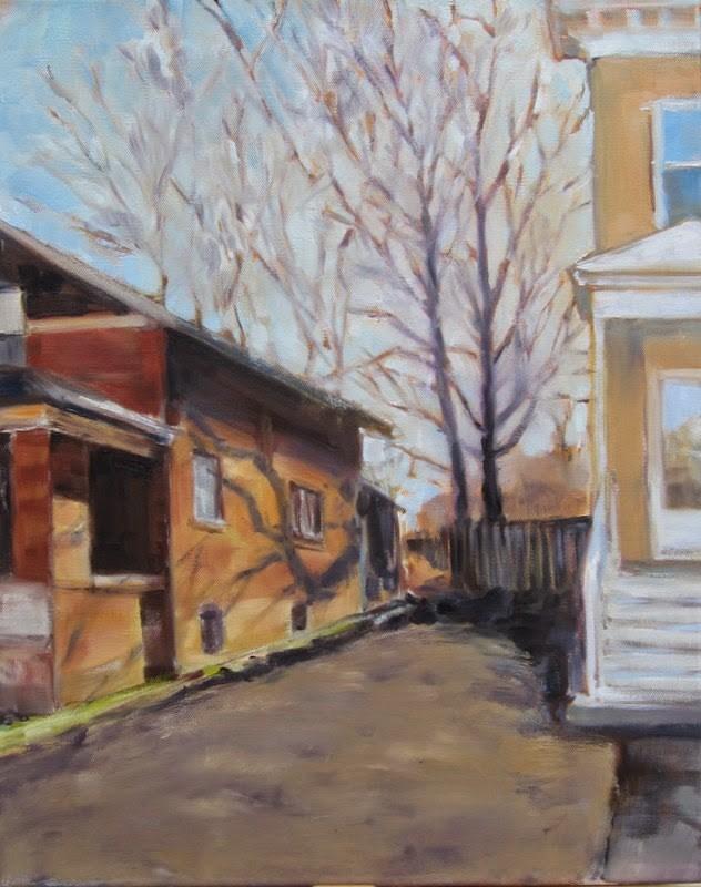 """""""Maplewood shadows"""" original fine art by Sandy Haynes"""