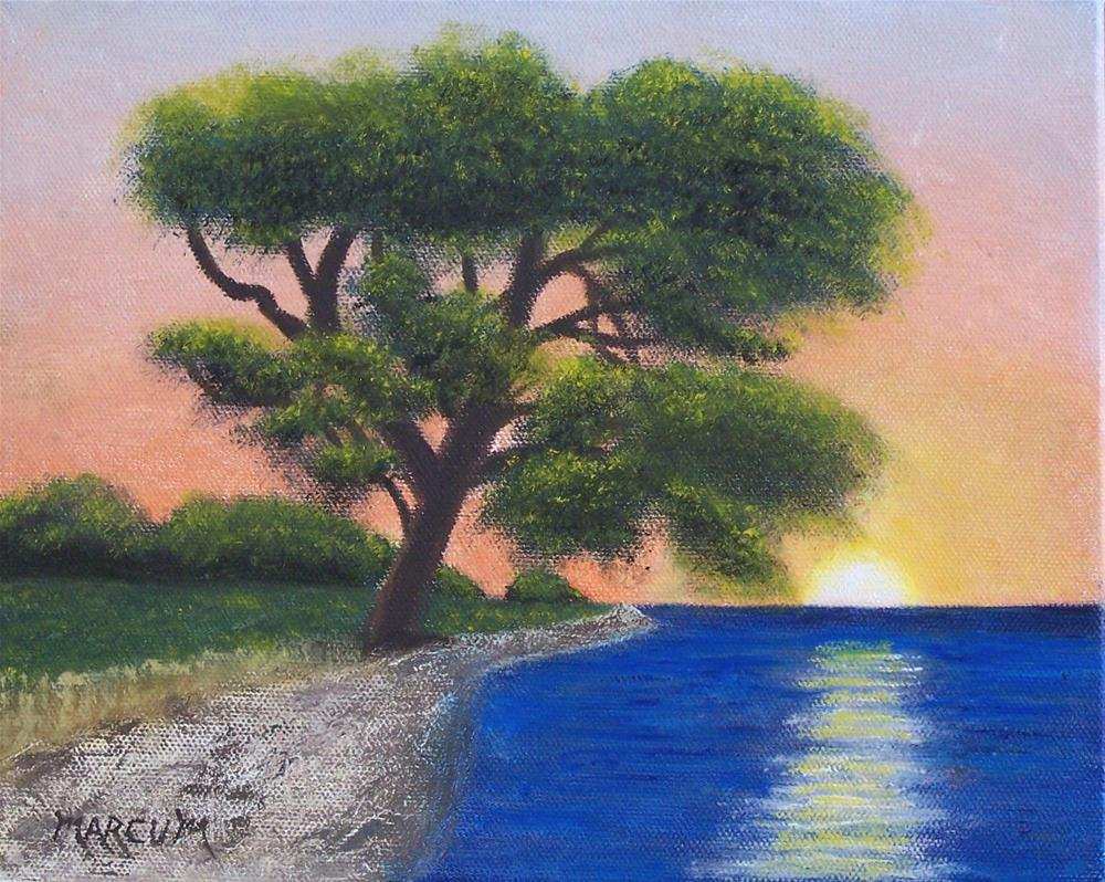 """Maui Sunset"" original fine art by John Marcum"