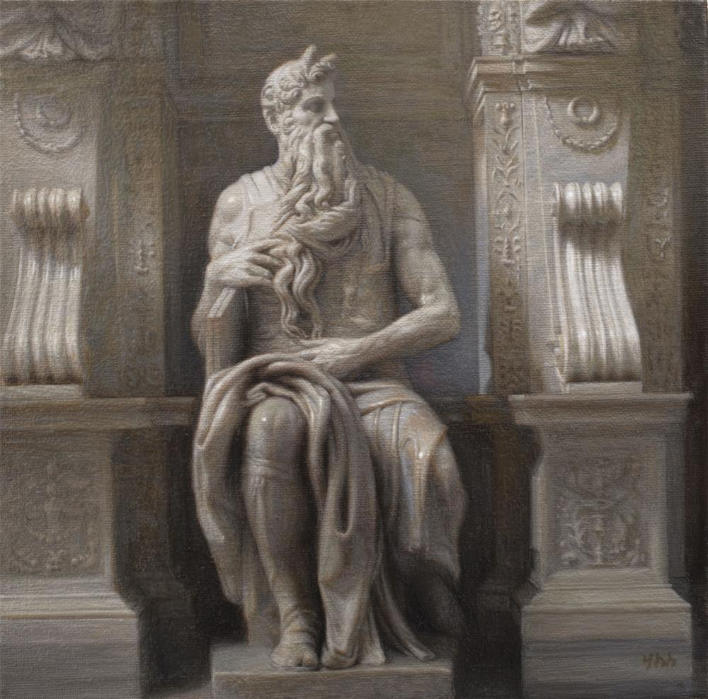"""Moses"" original fine art by Yuehua He"