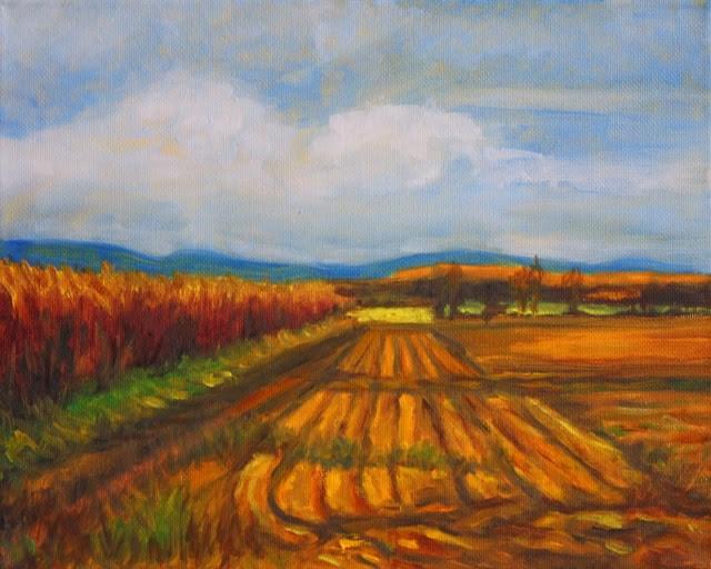 """""""The barren field"""" original fine art by Hilary J. England"""
