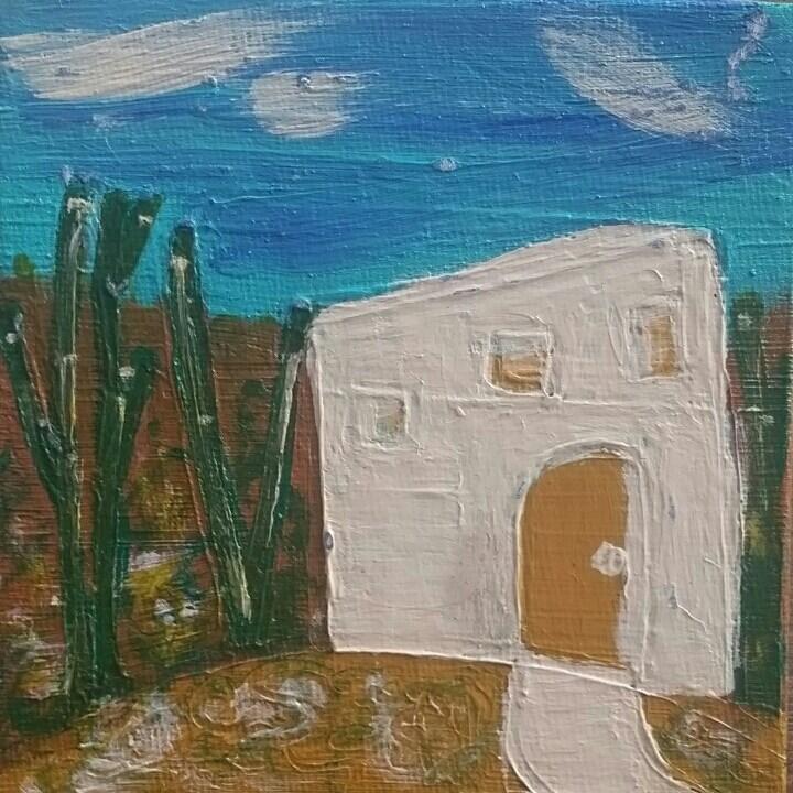 """Southwest 4 House # 32"" original fine art by Christy Tremblay"