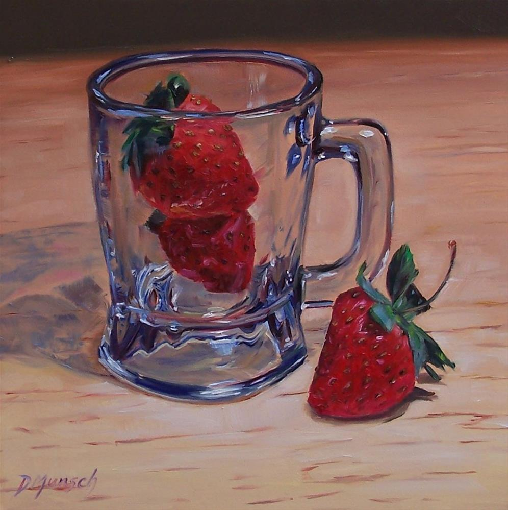 """Strawberry Mug"" original fine art by Donna Munsch"
