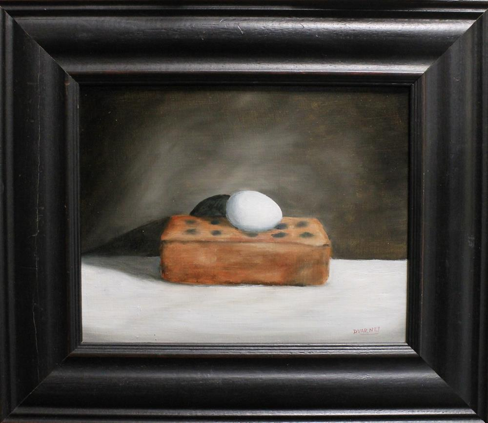 """Egg On Brick"" original fine art by Daniel Varney"
