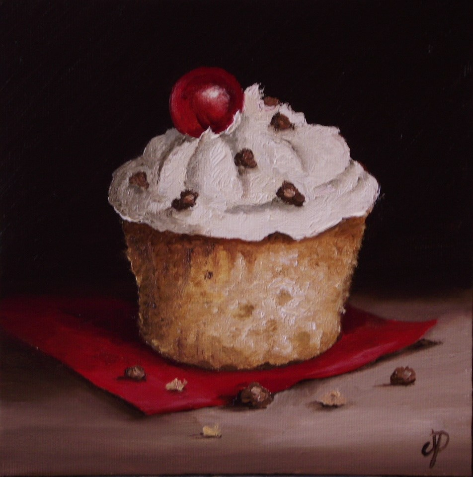 """Cherry on Top"" original fine art by Jane Palmer"