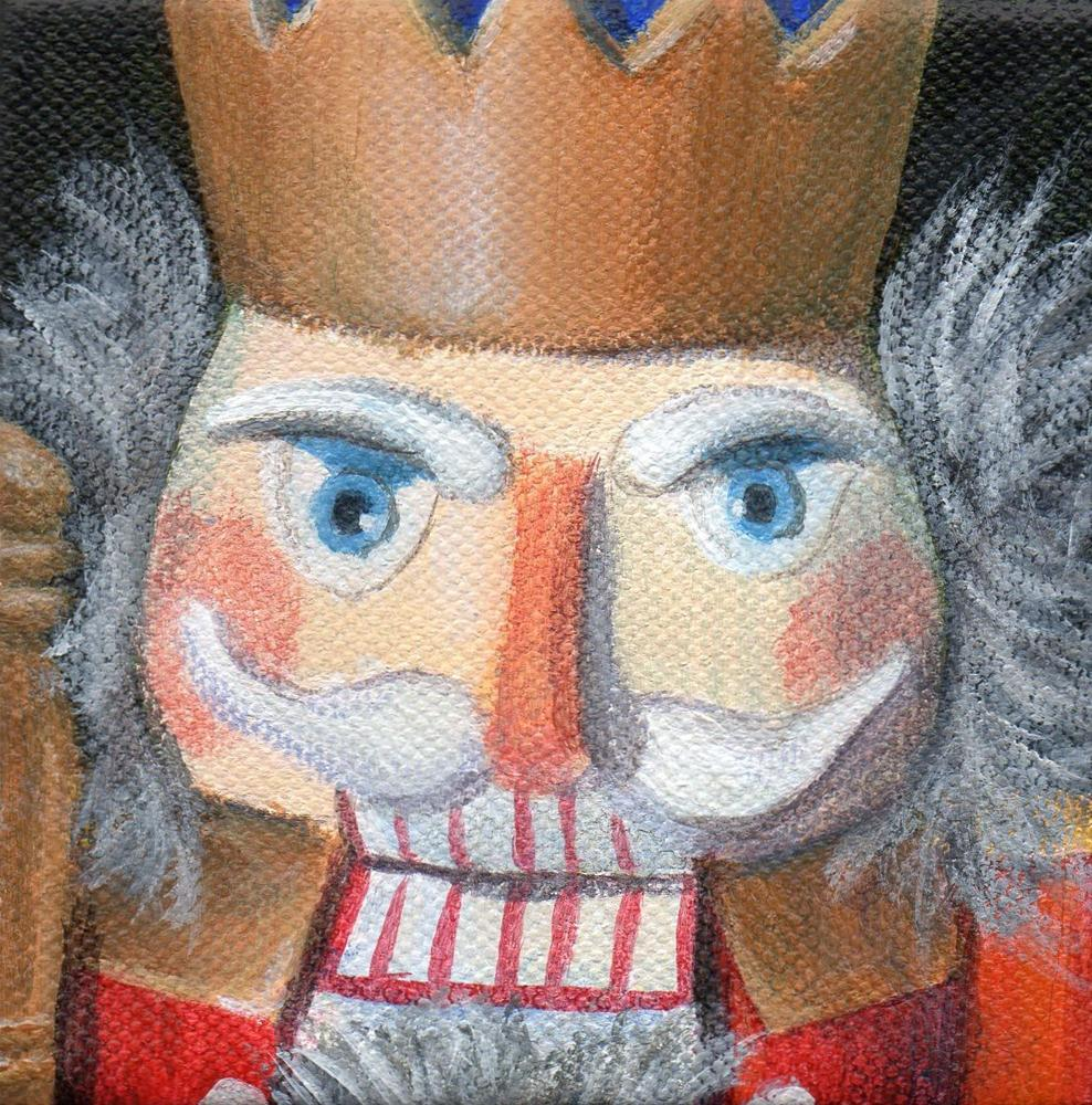 """Nutcracker King"" original fine art by Debbie Shirley"