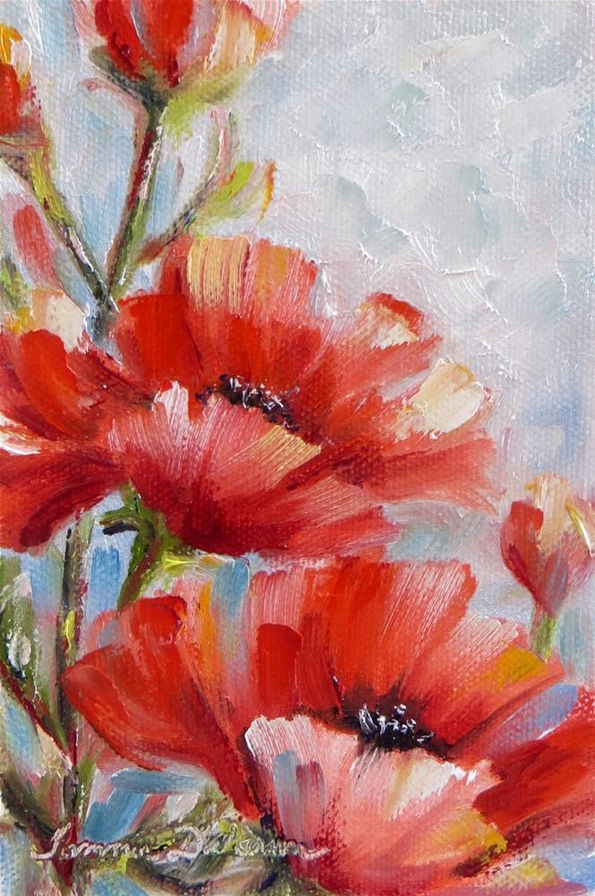 """A Dream of Poppies"" original fine art by Tammie Dickerson"