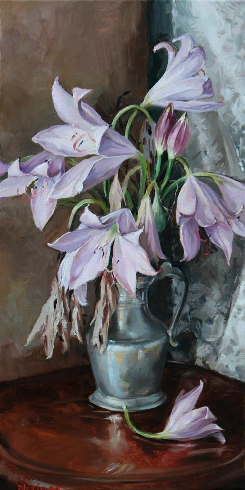 """Lilies"" original fine art by Neringa Maxwell"