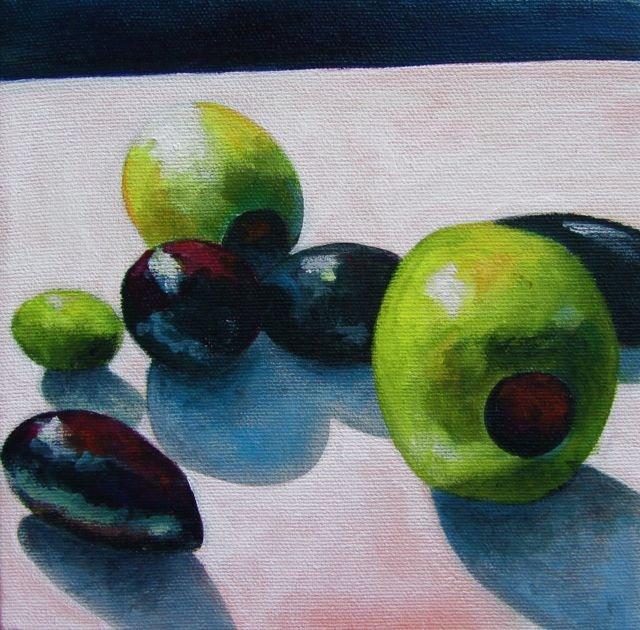 """Olives"" original fine art by Patricia MacDonald"