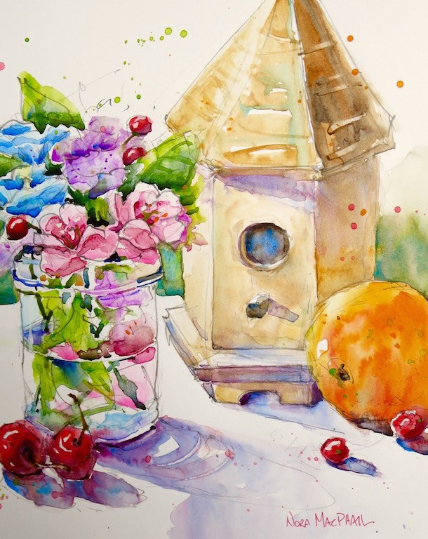 """""""sparkling"""" original fine art by Nora MacPhail"""