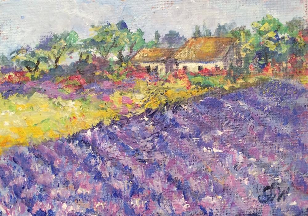 """""""Lavender Paradise"""" original fine art by Sonia von Walter"""