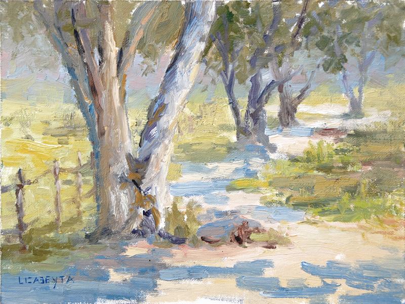 """Oak Grove"" original fine art by Liz Abeyta"