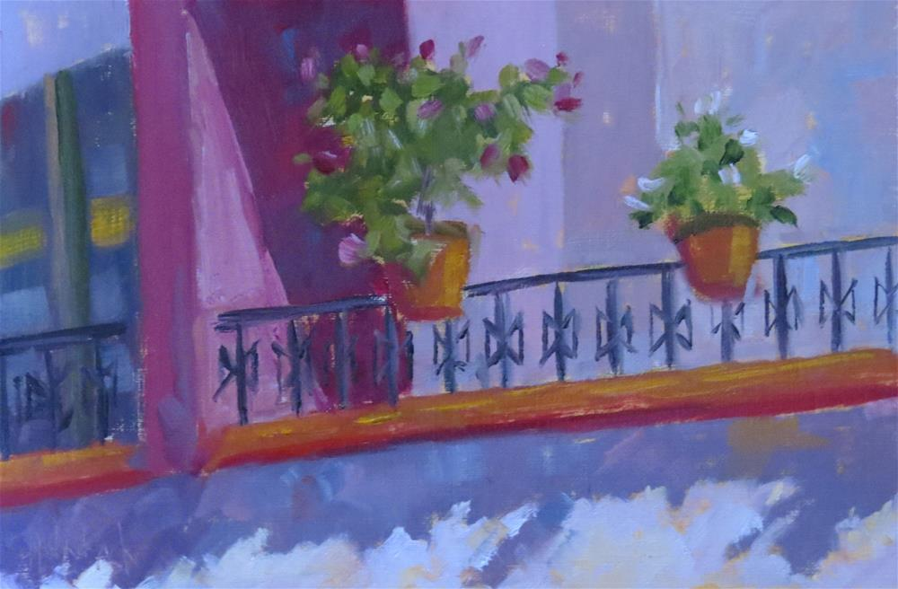 """Just Across The Way"" original fine art by Pam Holnback"