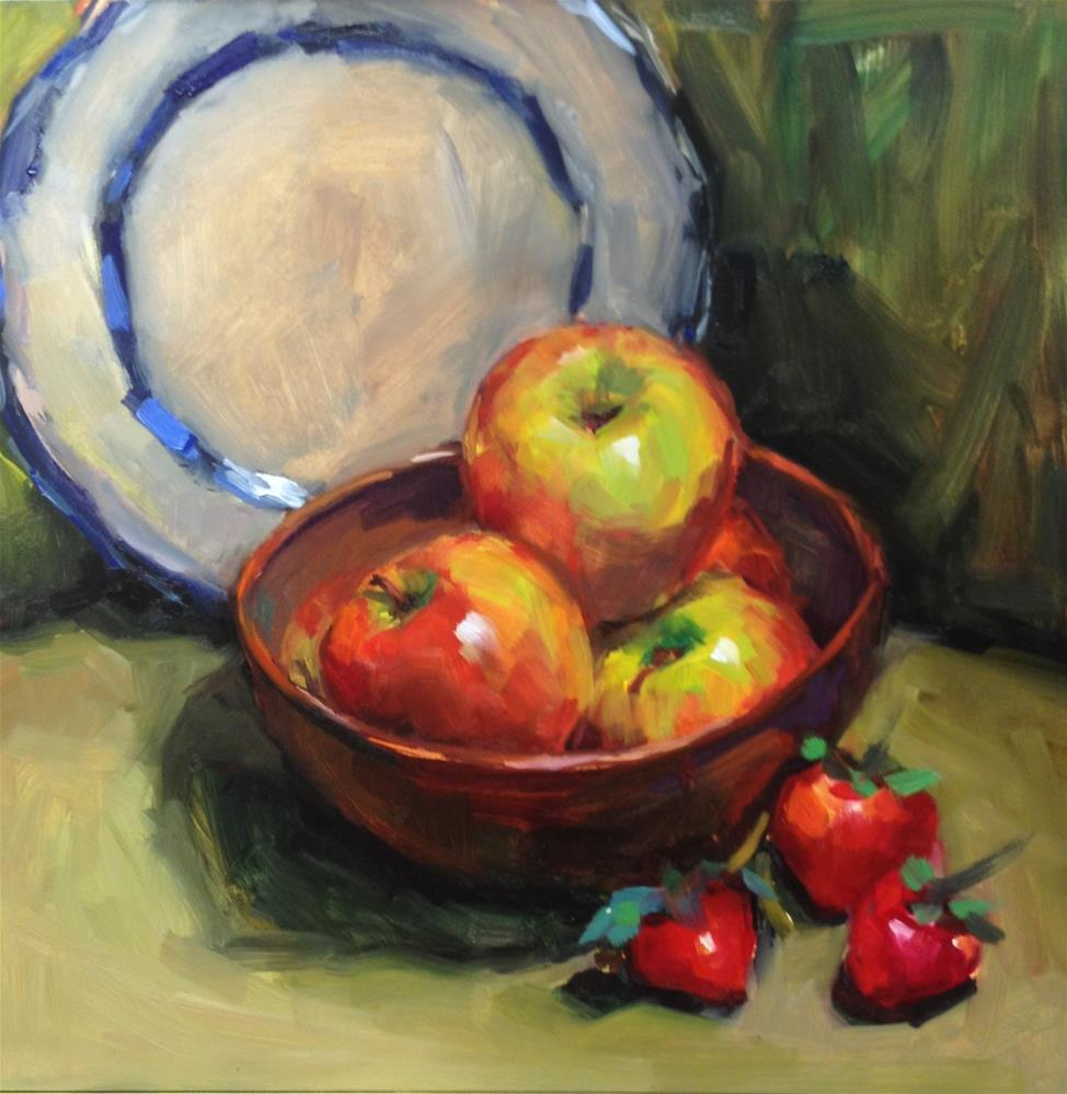 """We want to be apples when we grow up"" original fine art by Laurie Johnson Lepkowska"