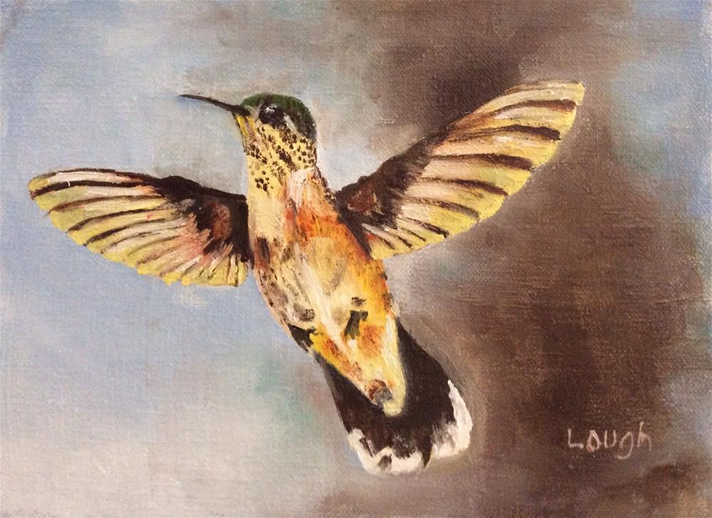 """Hummer II"" original fine art by Charlotte Lough"