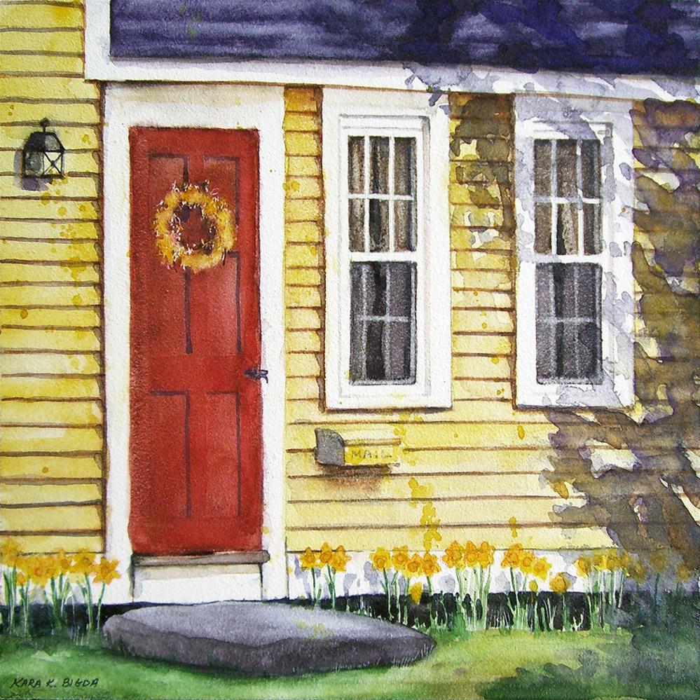 """Daffodils for June"" original fine art by Kara K. Bigda"