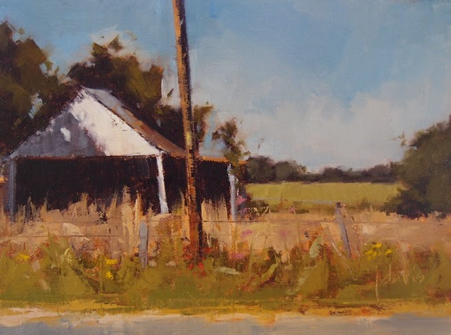 """Old Garage"" original fine art by Julie Davis"