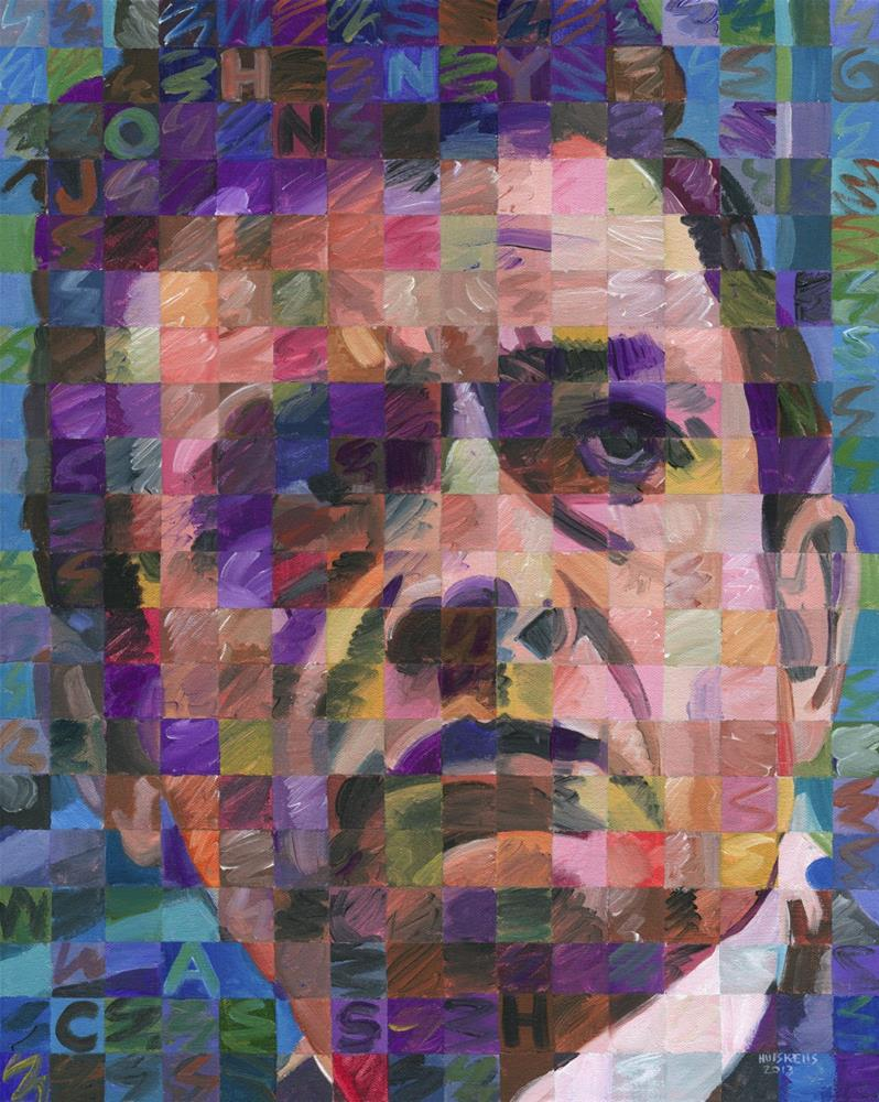 """Johnny Cash"" original fine art by Randal Huiskens"