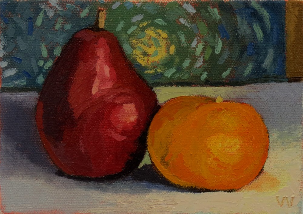 """Van Gogh Fruit"" original fine art by Joan Wiberg"