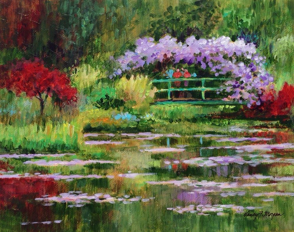 """The Artist's Garden"" original fine art by Nancy F. Morgan"