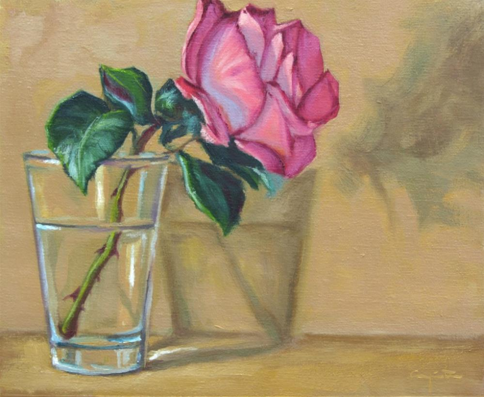 """Rosa rosa"" original fine art by Eduardo Carpintero"