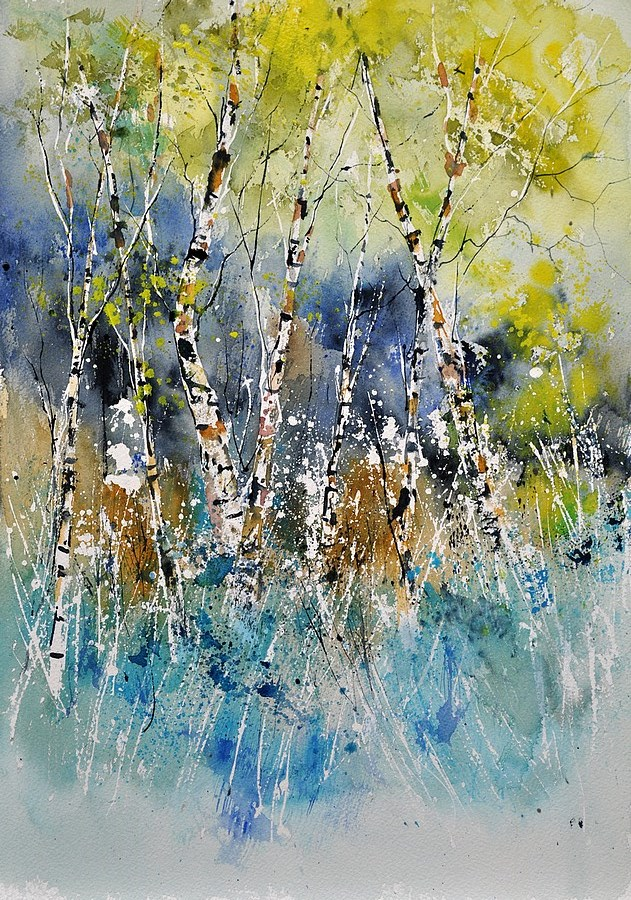 """watercolor 45417072"" original fine art by Pol Ledent"
