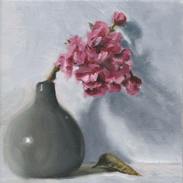 """Cherry blossom"" original fine art by Peter J Sandford"