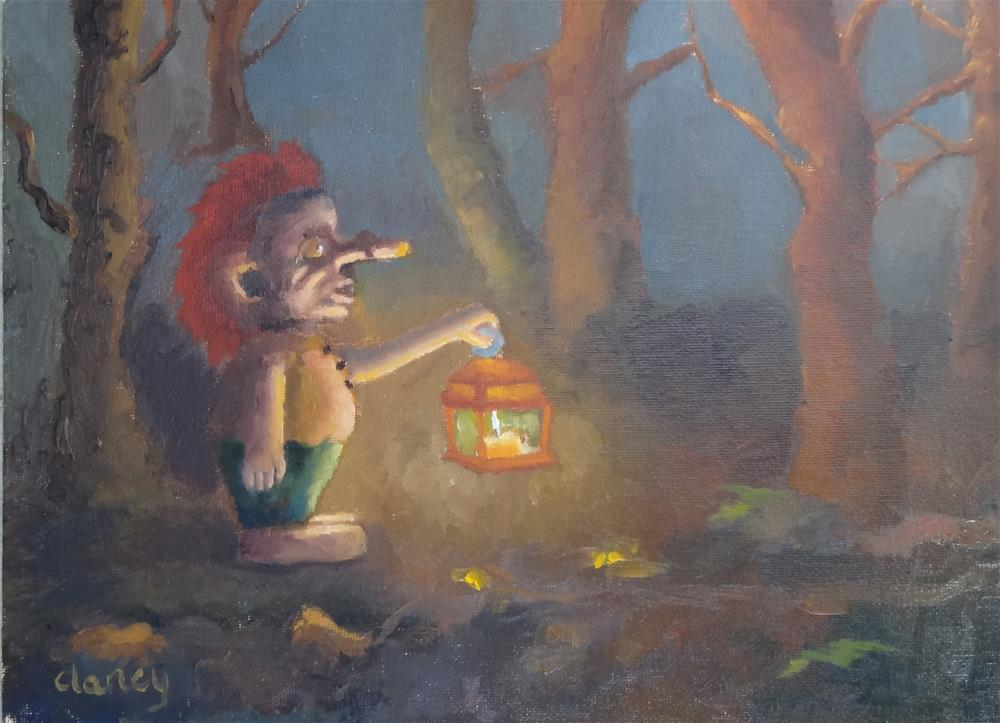"""The Troll in the Woods"" original fine art by Catherine Clancy"