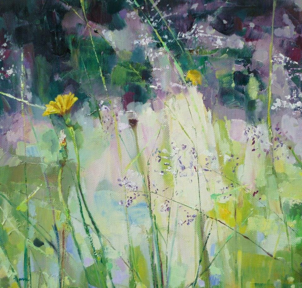"""""""Healing Garden"""" original fine art by Nava Judith"""