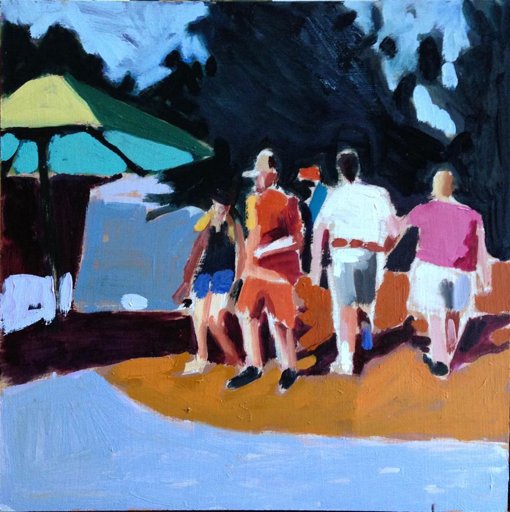 """Weekend Warriors"" original fine art by Pamela Hoffmeister"
