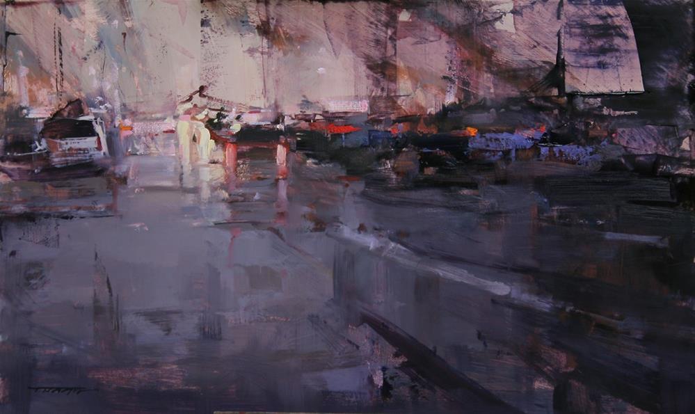"""""""The Falling Sky"""" original fine art by Tibor Nagy"""