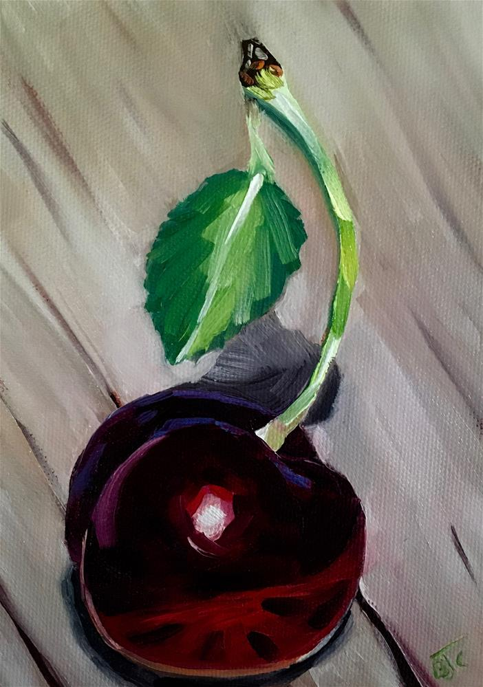 """One Cheery Cherry"" original fine art by Bobbie Cook"