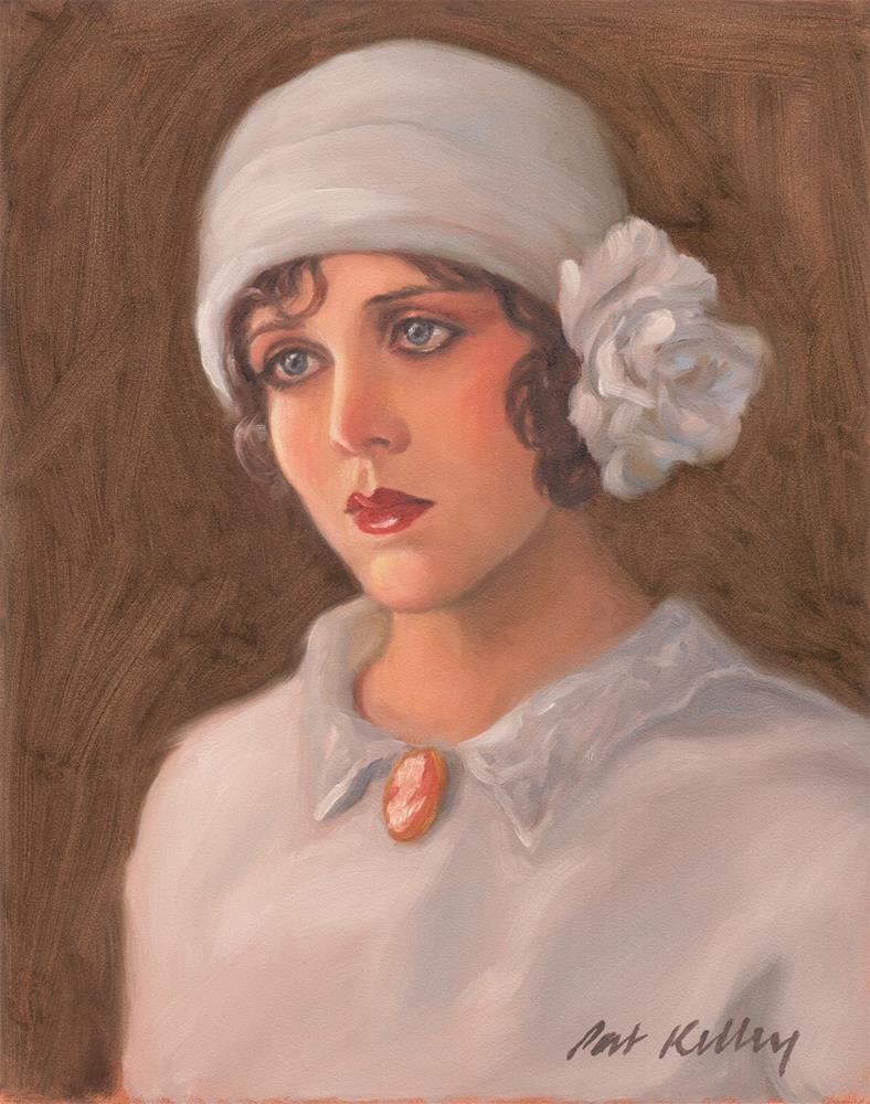 """Girl in a Cloche Hat"" original fine art by Pat Kelley"