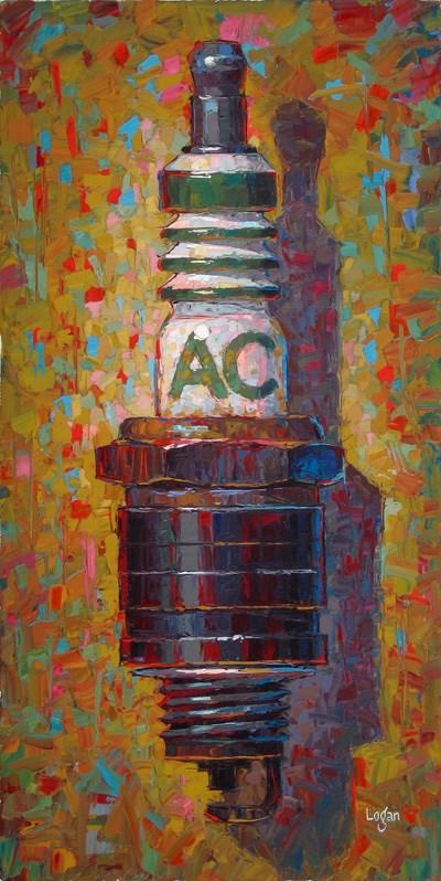 """Fouled AC Spark Plug"" original fine art by Raymond Logan"