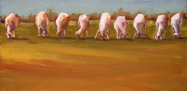 """lotsa sheepsa"" original fine art by Carol Carmichael"