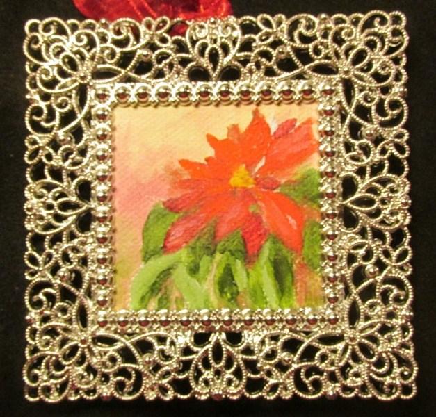 """Christmas Poinsettia"" original fine art by Ruth Stewart"