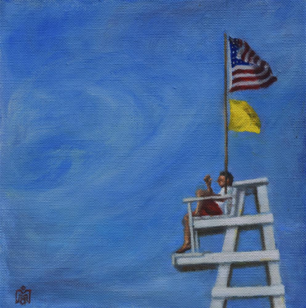 """Yellow Flag Study"" original fine art by Melissa  Imossi"