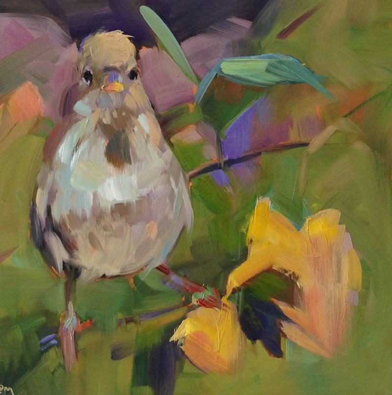 """Pretty in Peach"" original fine art by Patti McNutt"