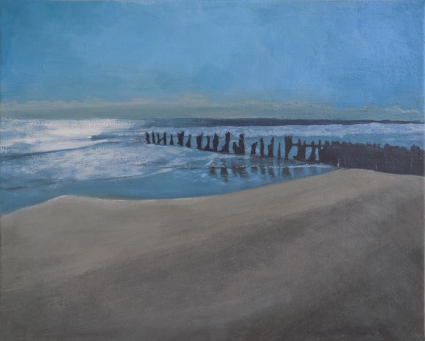 """Folly Beach, S.C."" original fine art by Emily Clanton"
