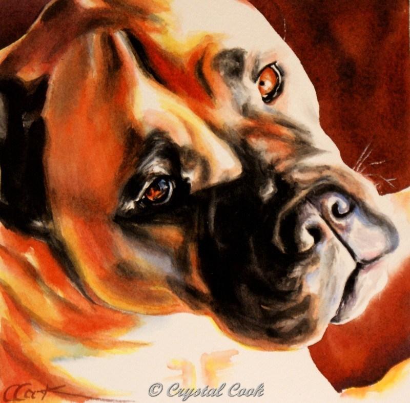 """Moose Man"" original fine art by Crystal Cook"