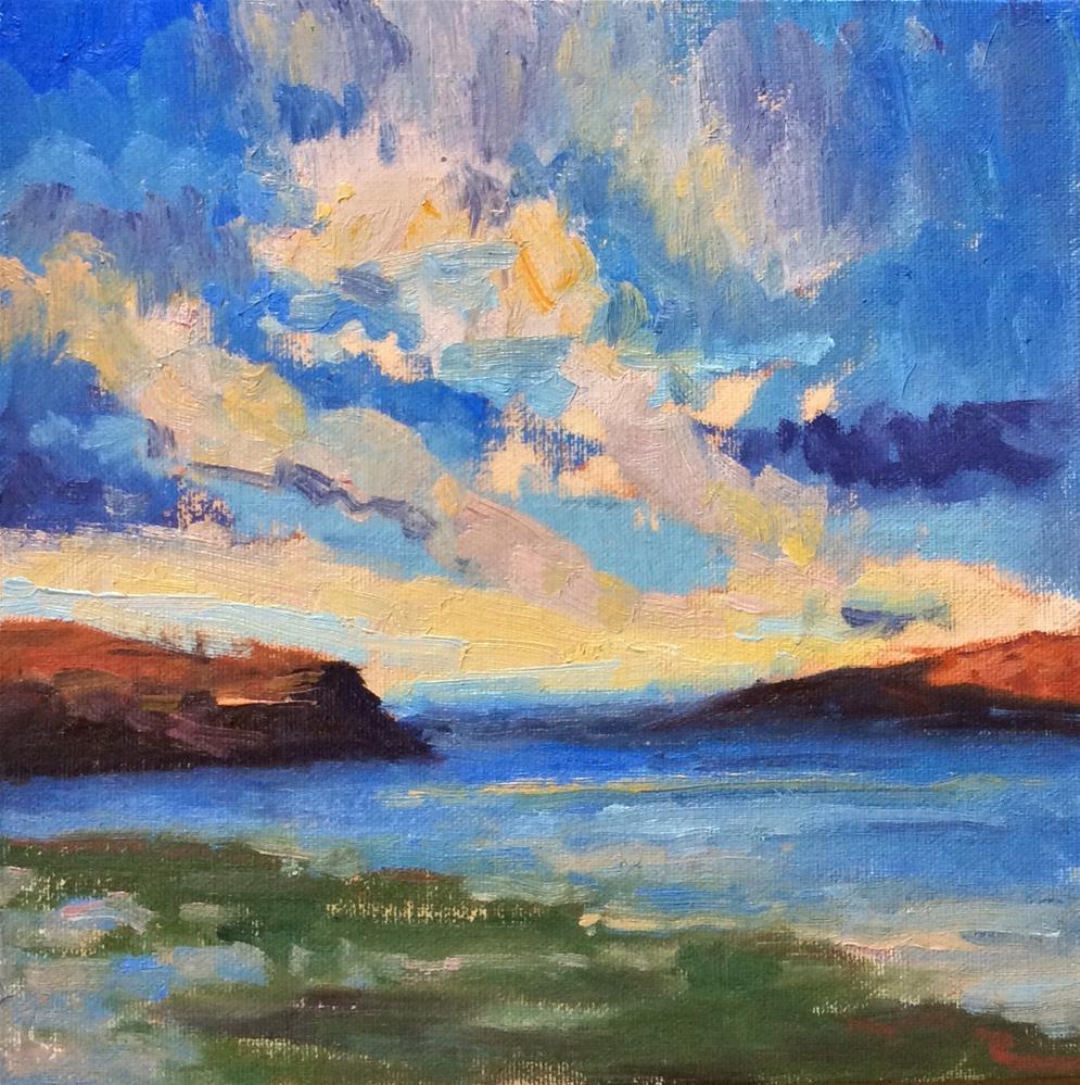 """""""Columbia River, WA"""" original fine art by Victoria  Biedron"""
