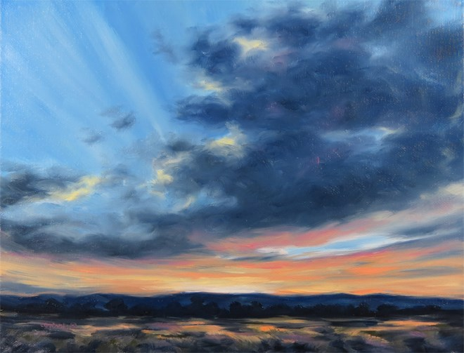"""Glowing Glory"" original fine art by Carol Zirkle"