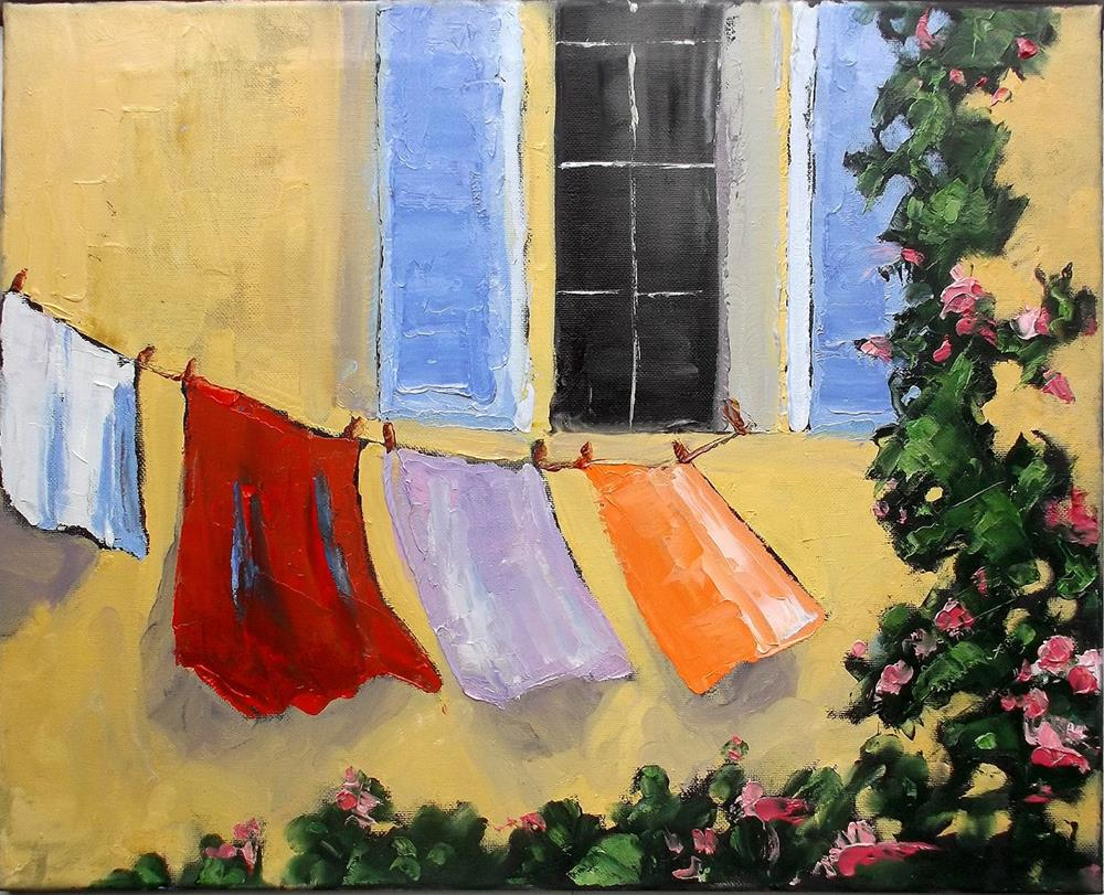 """Provence Laundry Upstairs Window"" original fine art by lynne french"