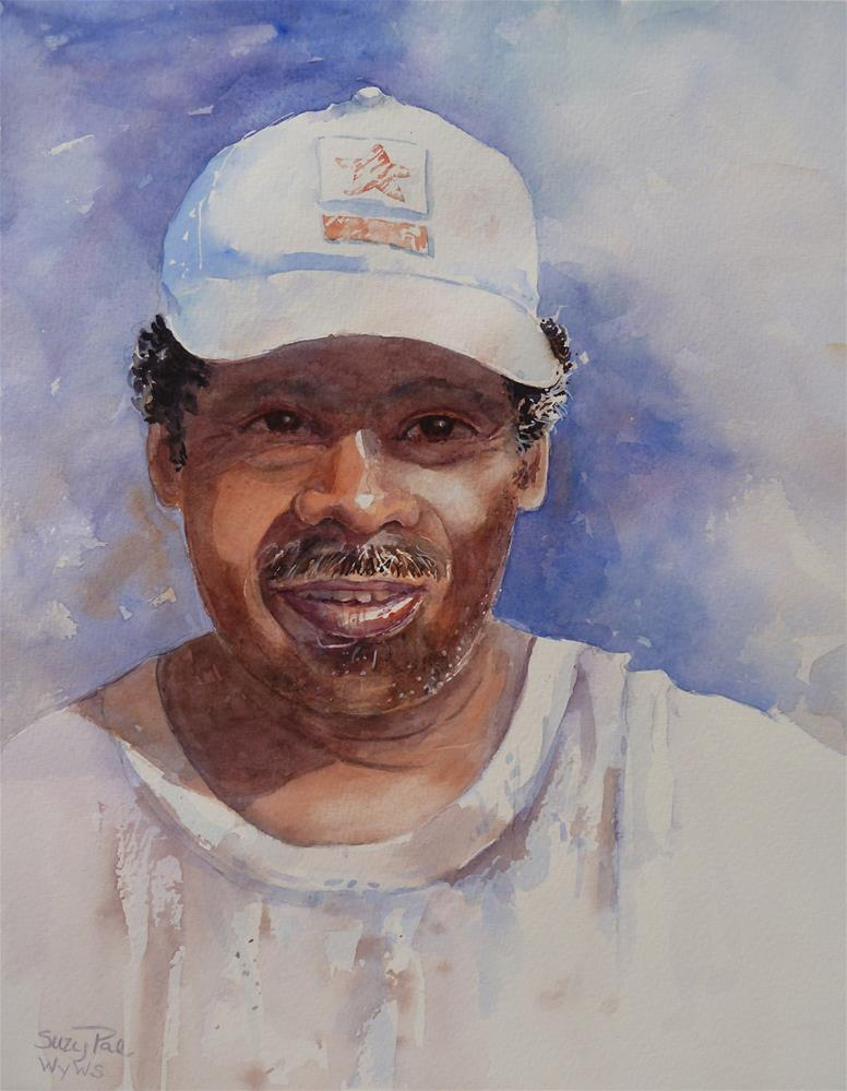 """The Fisherman"" original fine art by Suzy 'Pal' Powell"