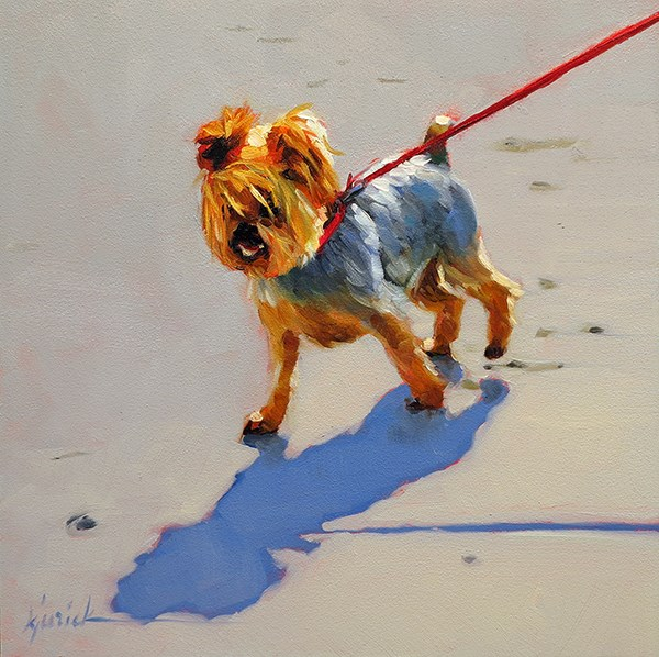 """Legally Blonde"" original fine art by Karin Jurick"