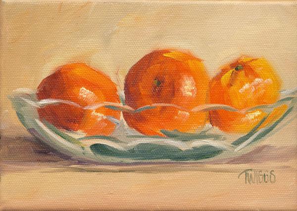 """Clementines 7"" original fine art by Lori Twiggs"