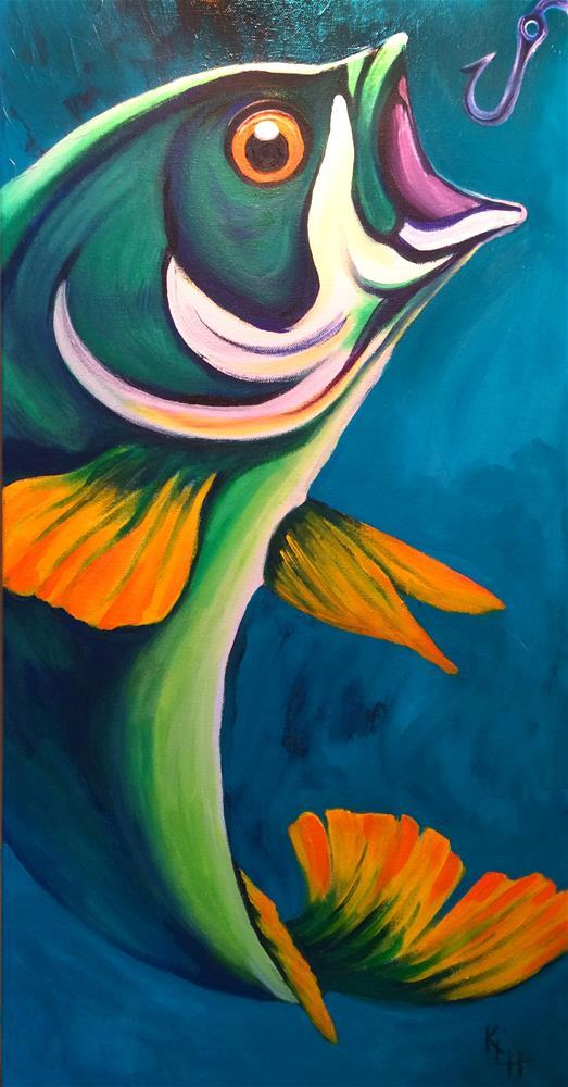 """Really Big Fish"" original fine art by Katherine Hambley"