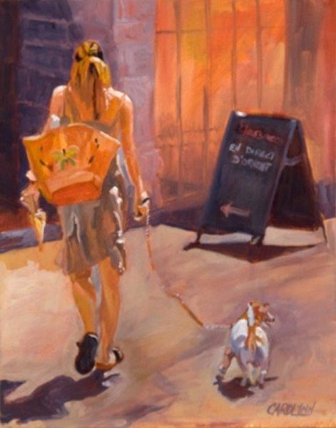 """Leaving the Scene II"" original fine art by Carolynn Doan"